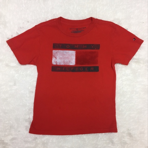 07600109 Tommy Hilfiger Shirts & Tops | Big Flag Logo Tee E8 | Poshmark